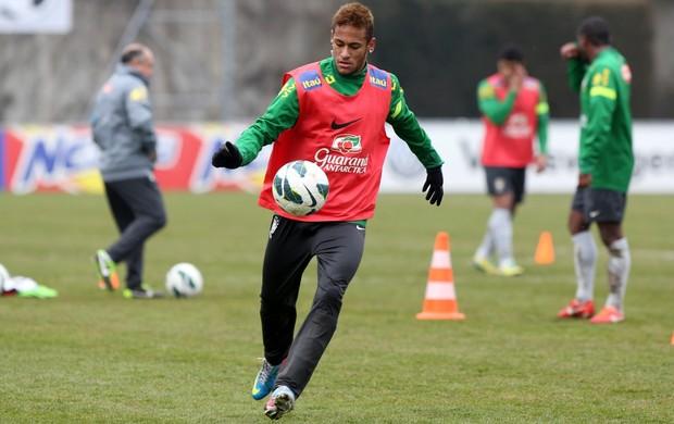 Neymar treino da seleção (Foto: Wander Roberto / Vipcomm)