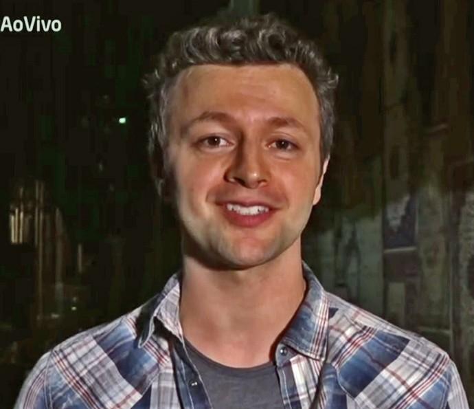 Lucas Lima revelou que parceira musical com Sany ajuda na relação do casal (Foto: TV Globo)