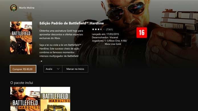 Clique em Comprar no Battlefield: Hardline (Foto: Reprodução/Murilo Molina)