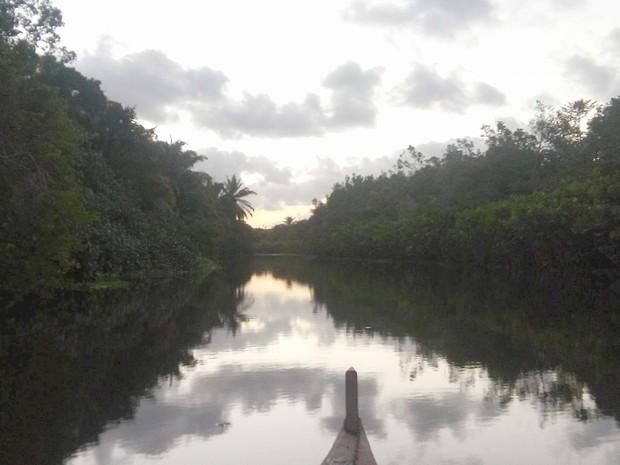 Rio Gramame integra a bacia, de mesmo nome, que é responsável pela maior parte da água que abastece a Grande João Pessoa (Foto: Sérgio Santos/Arquivo Pessoal)