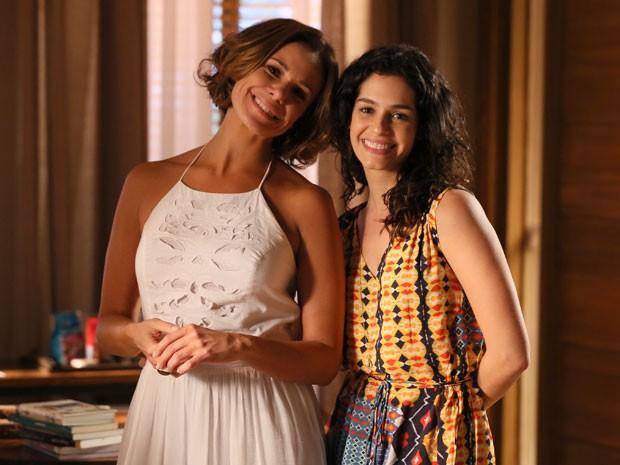 Atriz recebeu o carinho de Maria Flor durante despedida (Foto: Isabella Pinheiro/Gshow)