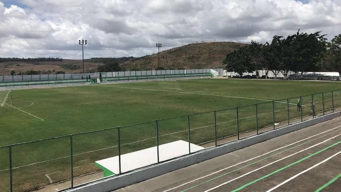Vista geral do estádio José Gomes da Costa, onde Murici e Cruzeiro se enfrentam na quarta-feira (Foto: Aluísio Gonzaga)