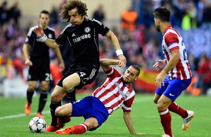David Luiz Atlético de Madri x Chelsea (Foto: AFP)