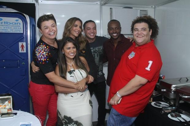 David Brazil, Simone, Ivete Sangalo, Wesley Safadão e Thiaguinho no Villa Mix (Foto: Thyago Andrade- Brazilnews)