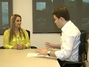 Candidato deve manter seriedade e ser cordial durante entrevista (Foto: Reprodução/Bom Dia Sergipe)