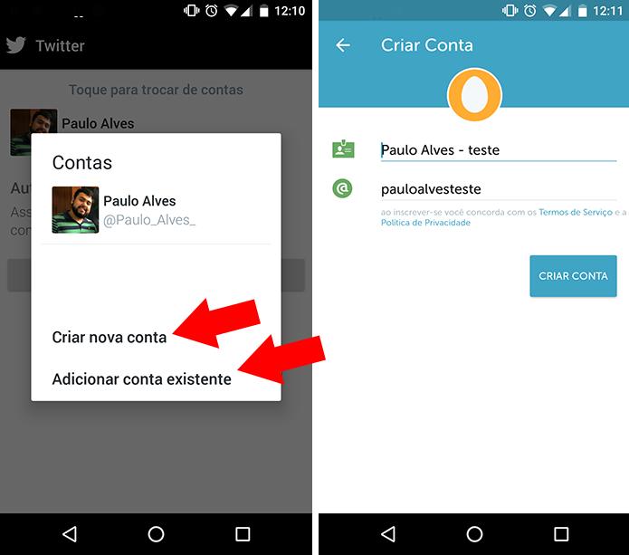 Crie uma nova ou faça login em uma que você já possua (Foto: Reprodução/Paulo Alves)