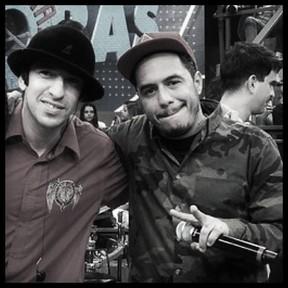Marcelo D2 e Champignon (Foto: Reprodução/Facebook)