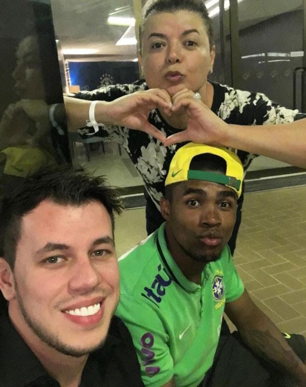 David Brazil tieta jogadores da seleção brasileira (Foto: Reprodução/Instagram)