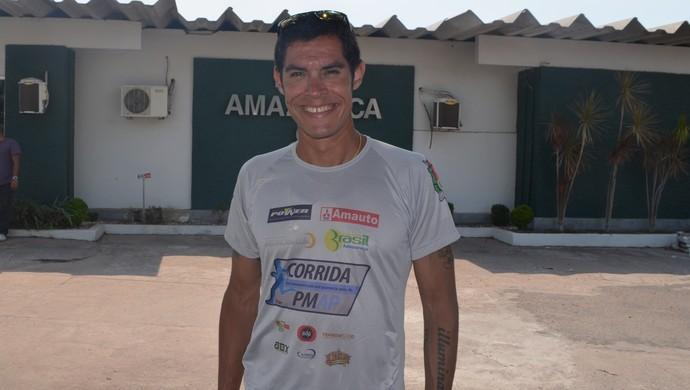 Adriano Bastos; Maratonista; Esporte; Corrida; Amapá (Foto: Rafael Moreira/GE-AP)