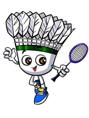 mascote badminton (Foto: Divulgação)