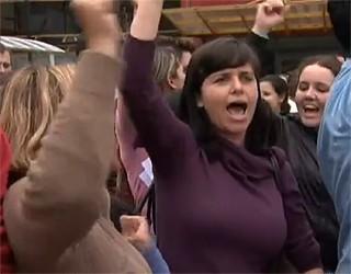 Paraná TV protesto professores (Foto: Reprodução/ RPC TV)