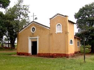 Capela de 100 anos também pode ser destruída em fazenda de Araraquara (Foto: Reprodução/EPTV)