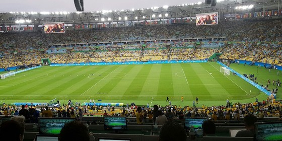 Maracanã antes do jogo Brasil x Alemanha na final olímpica (Foto: Rodrigo Turrer)