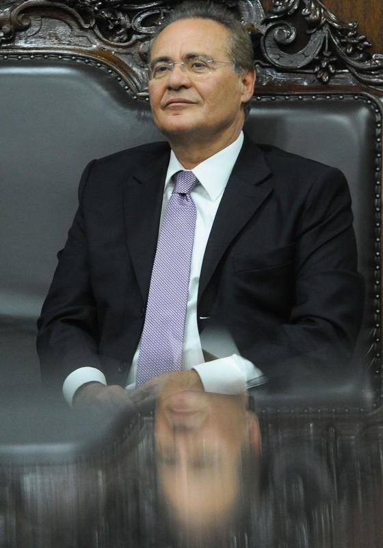 Renan Calheiros presidente do Senado (Foto:  ANDRESSA ANHOLETE/AFP)