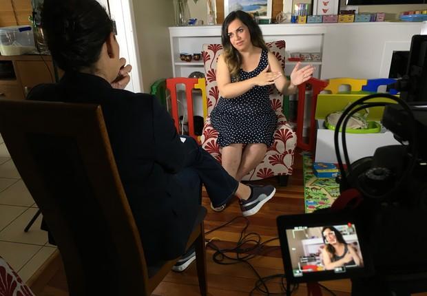 Simeen começou seu próprio negócio de design conciliando a gravidez do primeiro filho, até que resolveu expandir o negócio (Foto: Divulgação)