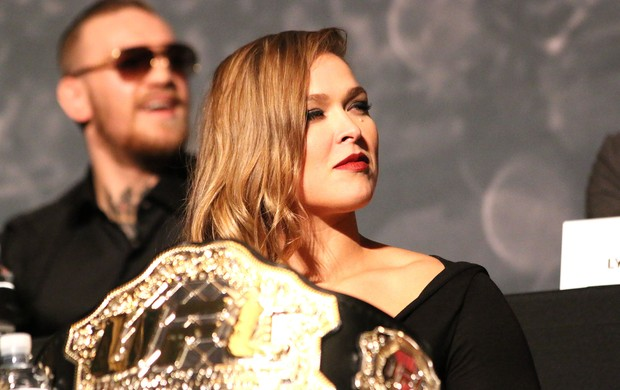 Ronda Rousey, Coletiva UFC (Foto: Evelyn Rodrigues)