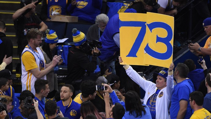 Golden State Warriors jogo recorde vitórias 73 nba (Foto: Reuters)