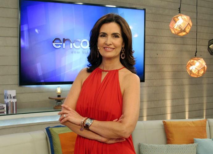 Veja look usado pela Fátima no programa do dia 27/11/15 (Foto: Priscilla Massena/Gshow)