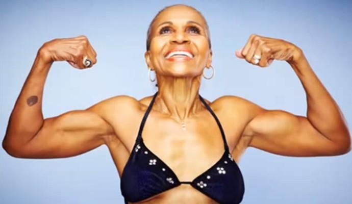 Ernestine mostrando sua força (Foto: Reprodução da internet)