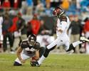 Kicker tem redenção, e Buccaneers vencem Panthers no último suspiro
