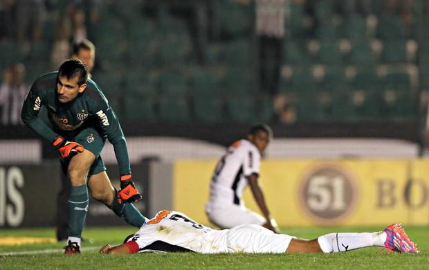 Figueirense x Atlético-MG Victor e Leonardo Silva (Foto: Getty)
