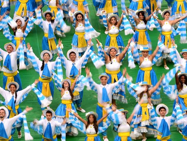 abertura Mané Garrincha estádio Copa (Foto: AFP)