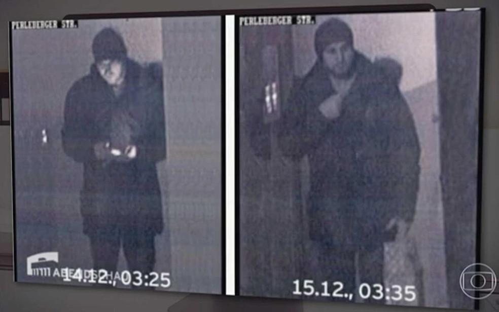 Tunisiano suspeito é fotografado em mesquita após ataque em Berlim (Foto: Reprodução/TV Globo)