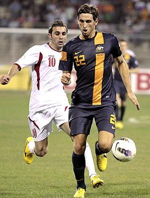 Matthew Spiranovic na partida da Austrália contra a Jordânia (Foto: AFP)