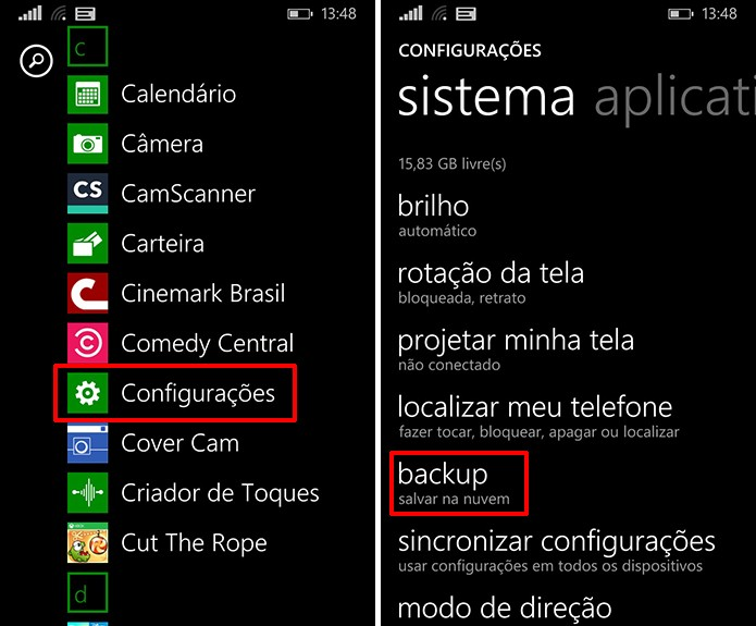 Windows Phone pode ter aplicativos e jogos salvos na nuvem a partir das configurações do sistema (Foto: Reprodução/Elson de Souza)