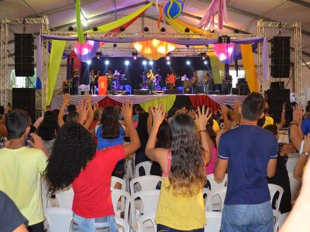 Cristoval é o maior retiro católico do oeste do Pará (Foto: Aritana Aguiar/G1)