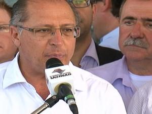 Governador Geraldo Alckimin esteve em Arujá  (Foto: Reprodução/TV Diário)