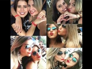 Fotos de Mariana e Jéssica momentos antes do crime em festa universitária (Foto: Arquivo Pessoal/Jéssica Rodrigues)