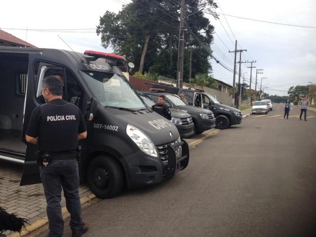Operação foi deflagrada na manhã desta terça-feira (31), em Piên (Foto: Dulcinéia Novaes / RPC)