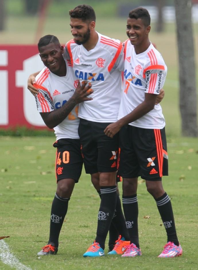 Amaral, Wallace, Gabriel, Ninho, Flamengo (Foto: Gilvan de Souza/Fla Imagem)