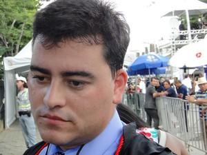 Tiago Lenoir compõe a defesa de Bruno Fernandes (Foto: Pedro Cunha/G1)
