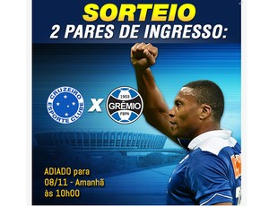 Júlio Baptista sorteio jogo Cruzeiro (Foto: Reprodução)