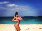Andressa Urach curte férias em praia de Bahamas: 'Delícia'