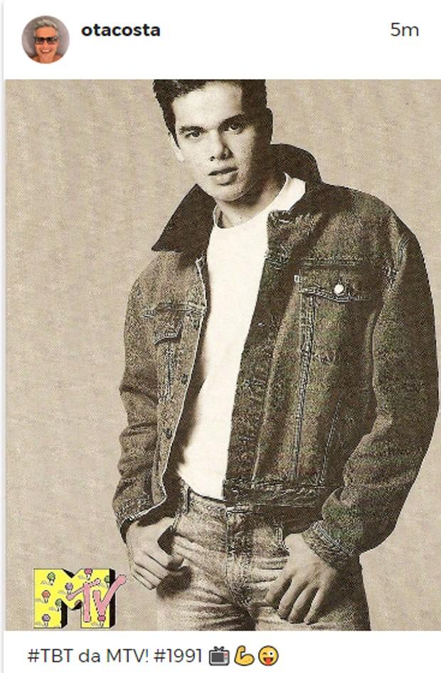Otaviano Costa em 1991, na época da MTV (Foto: Reprodução/Instagram)