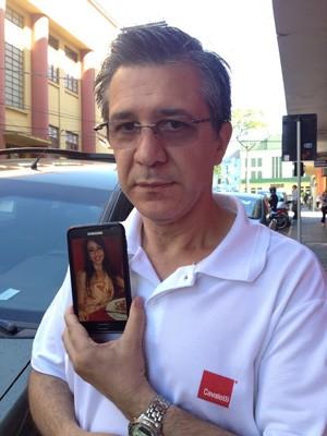 Adherbal Alves Ferreira, pai de vítima do incêndio em Santa Maria (Foto: Roberta Salinet/G1)
