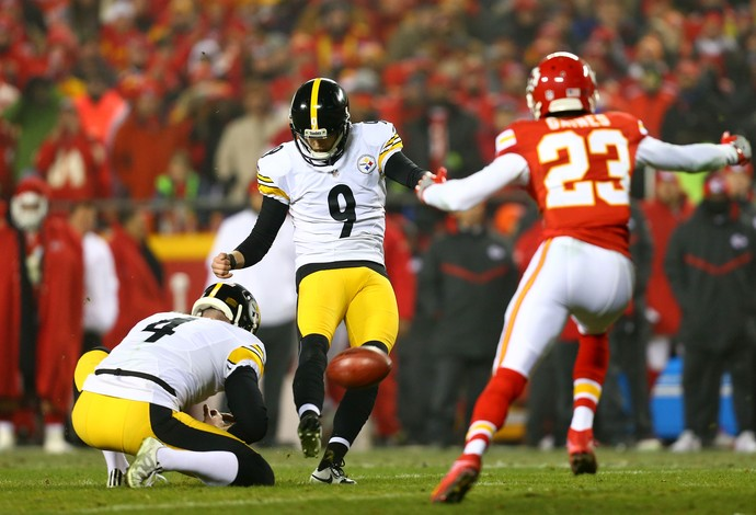 Chris Boswell acertou seis field goals na vitória do Pittsburgh Steelers (Foto: Getty Images)