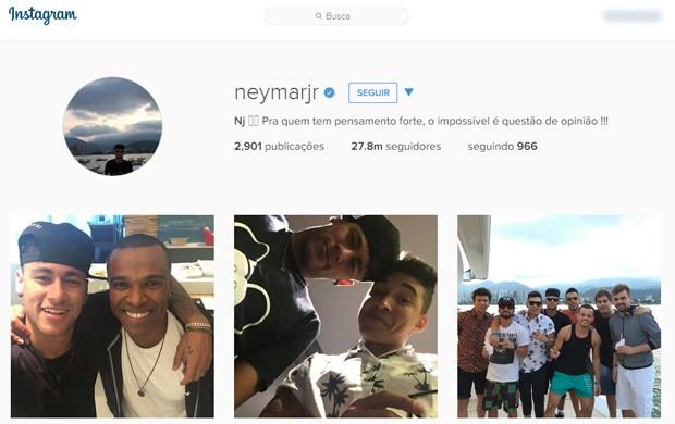 Campo de buscas da versão web do Instagram aparece no topo da tela (Foto: Reprodução/Instagram)