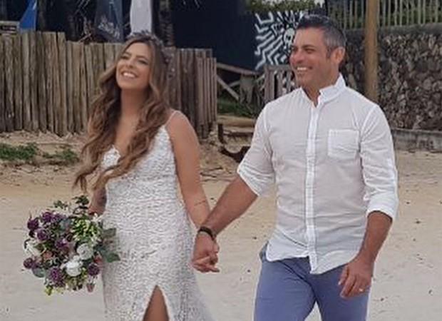 Luigi Baricelli casa a filha, Rúbia Baricelli (Foto: Reprodução/Instagram)