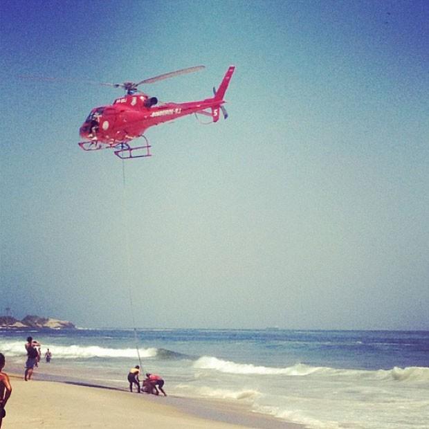 Rita Guedes registrou o resgate (Foto: Reprodução/Instagram)