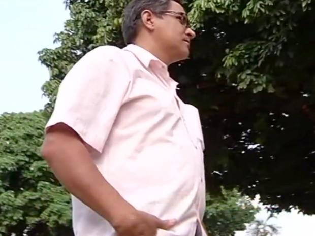 Ricardo Soares sacou benefício depois de 4 meses, em Catalão, em Goiás (Foto: Reprodução/TV Anhanguera)