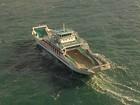 Cinco embarcações operam no sistema ferry boat neste domingo
