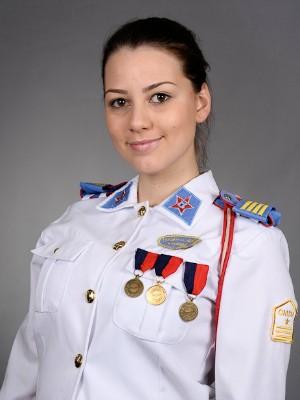 Larissa Comazzetto estudou no Colégio Militar de Santa Maria (Foto: Larissa Comazzetto/Arquivo Pessoal)