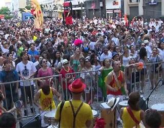 Várias famílias participaram da festa em Curitiba  (Foto: (Foto: Reprodução/RPC TV))
