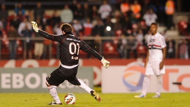 Rogerio Ceni São Paulo x Universidad Catolica (Foto: Marcos Ribolli / Globoesporte.com)