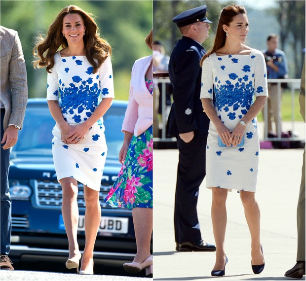 Kate Middleton repete vestido usado há dois anos (Foto: Ben Pruchnie/Getty Images | AFP)
