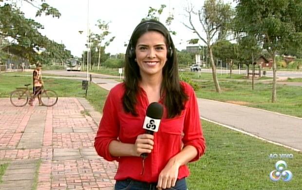 Lys Mendes faz participações ao vivo no Bom Dia Amazônia Acre neste mês (Foto: Reprodução/Bom Dia Amazônia)